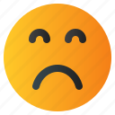 chat, emoji, emoticon, emotion, expression, face, sad icon