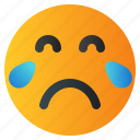 chat, cry, emoji, emoticon, emotion, expression, face icon