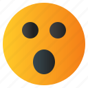 chat, confuse, emoji, emoticon, emotion, expression, face icon