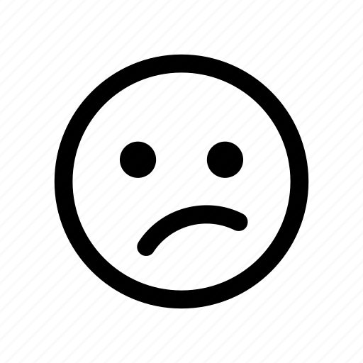 bewildered, emoji, hesitant, meh, perplex, undecided, unhappy icon