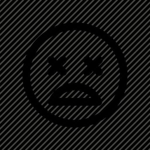 abuse, dead, death, emoji, emoticon, hurt, sick icon