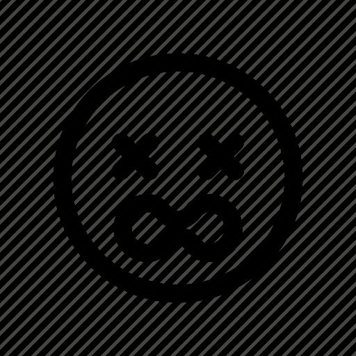 bad, crying, damage, dying, emoji, sick, wound icon