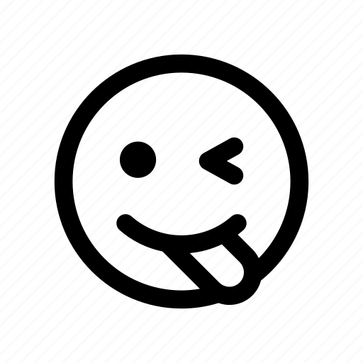blink, emoji, flirt, joke, tongue out, wink, witty icon
