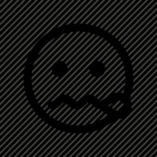 calm, classified, confidential, emoji, mute, nervous, quiet icon