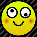 crazy, rosy cheeks, smile icon