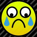 crying, sad, tears icon