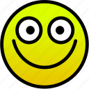 big smile, smile, wide icon