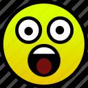concern, shocked, surprised icon