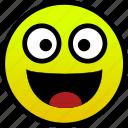 happy, joy, smile, wide icon