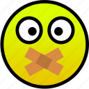 mouth, shut, taped icon