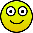big eyes, happy, smile