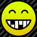 smile, smiling eyes, teeth icon
