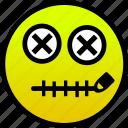 mouth, secret, zipper icon