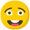 emoji, emoticon, feelings, smiley, surprised emoji icon
