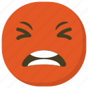 angry emoji, angry face, emoticon, ideogram, smiley icon