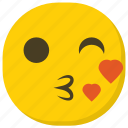 emoji, feelings, kiss emoji, kissing face, smiley icon