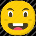 emoticon, expressions, feelings, laughing emoji, smiling icon