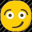 emoji, emoticon, facial expressions, smirking face, unamused face icon