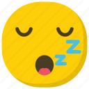 emoji, emoticon, sleeping face, snoring, zzz face icon