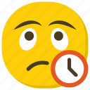 emoticon, expressions, feelings, smiley, waiting emoji icon