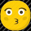 emoji, feelings, kiss emoji, kissing face, smiley