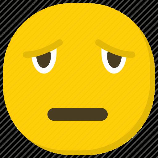 emoticon, feelings, sad emoji, sad expressions, smiley icon