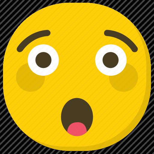 emoji, emoticon, feelings, smiley, surprised emoji icon