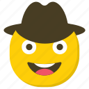 cowboy emoji, emoticon, expressions, ideogram, smiley icon