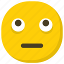 emoticon, expressions, ideogram, neutral face, smiley icon