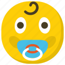 baby emoji, emoticon, expressions, ideogram, smiley icon
