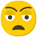 disappointed face, emoticon, expressions, ideogram, smiley icon