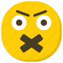 emoticon, expressions, ideogram, smiley, speechless emoji icon