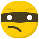 burglar emoji, emoticon, expressions, ideogram, smiley icon