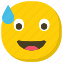 emoticon, expressions, ideogram, relieved emoji, smiley icon