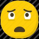 astonished smiley, emoticon, facial expressions, smiley, surprised emoji icon