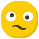 emoticon, expressions, frowning face, hushed face, smiley icon