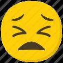 emoticon, expressions, ideogram, pensive emoji, sad face icon