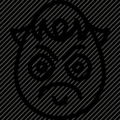 angry, boy, emojis, emotion, face, grumpy, smiley icon