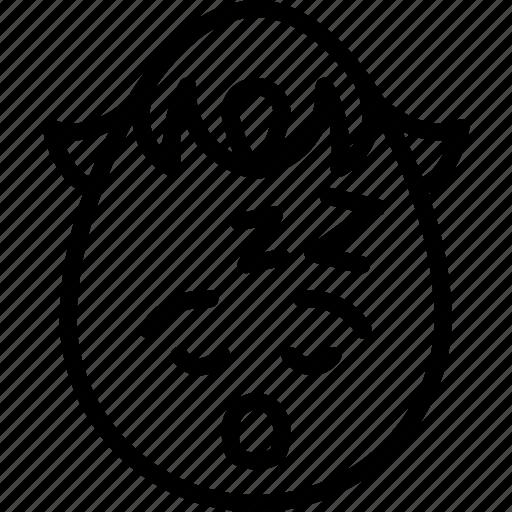 boy, emojis, emotion, face, sleeping, smiley, tired icon