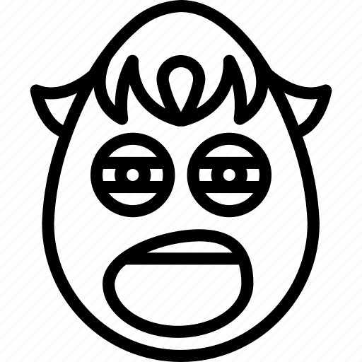 boy, emojis, emotion, face, smiley, tired, yawn icon