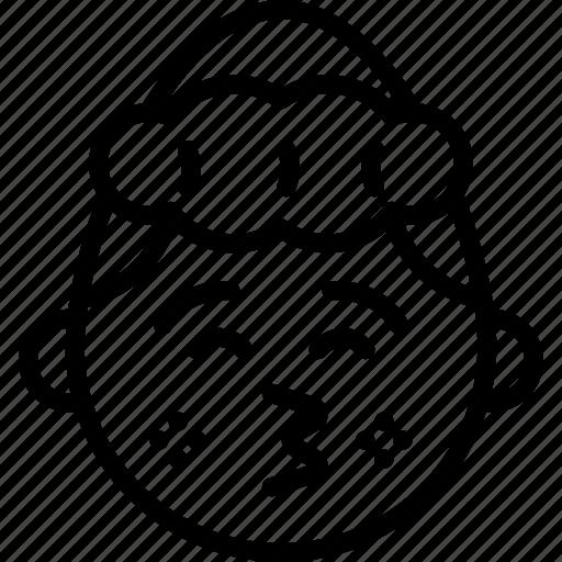emojis, emotion, face, girl, kiss, shy, smiley icon