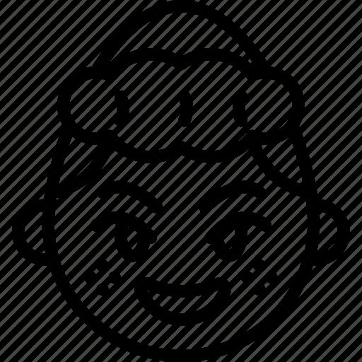 emojis, emotion, face, girl, happy, shy, smiley icon