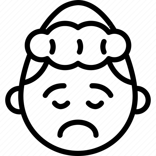 emojis, emotion, face, girl, grumpy, sad, smiley icon