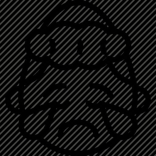 cry, emojis, emotion, face, girl, sad, smiley icon