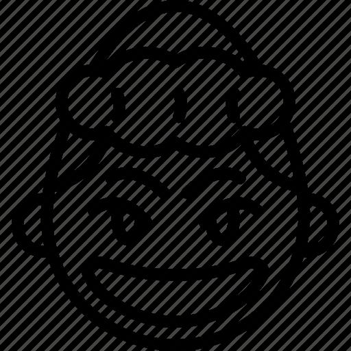 emojis, emotion, face, girl, happy, smile, smiley icon
