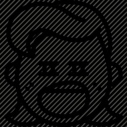 emojis, emotion, face, girl, smiley, tired, yawn icon