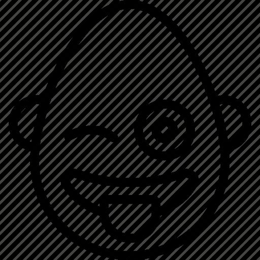 bold, cheeky, emojis, emotion, face, man, smiley icon