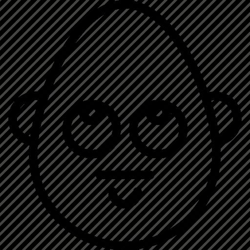 bold, emojis, emotion, good, grief, man, smiley icon