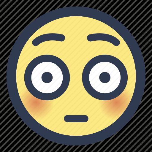 blush, emoji, flushed icon