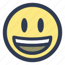 emoji, grinning, happy icon